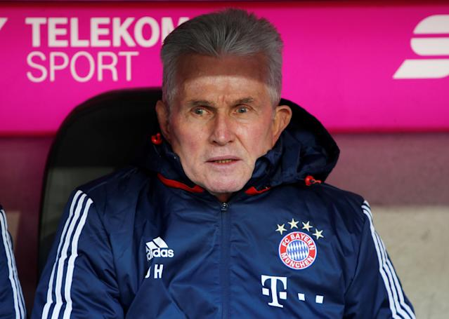 Soccer Football - Bundesliga - Bayern Munich vs Hertha BSC - Allianz Arena, Munich, Germany - February 24, 2018 Bayern Munich coach Jupp Heynckes before the match REUTERS/Michaela Rehle DFL RULES TO LIMIT THE ONLINE USAGE DURING MATCH TIME TO 15 PICTURES PER GAME. IMAGE SEQUENCES TO SIMULATE VIDEO IS NOT ALLOWED AT ANY TIME. FOR FURTHER QUERIES PLEASE CONTACT DFL DIRECTLY AT + 49 69 650050