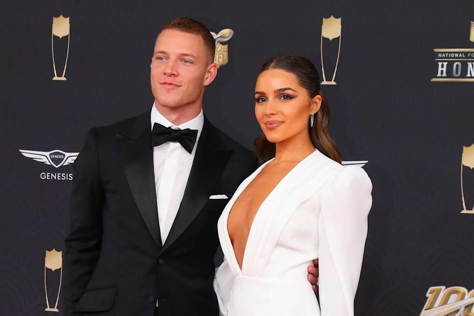 "<p>Olivia Culpo has sparked dating rumors with her fair share of athletes. In 2012, it was Olympian <a href=""https://people.com/celebrity/ryan-lochte-dating-miss-usa-olivia-culpo/"" rel=""nofollow noopener"" target=""_blank"" data-ylk=""slk:Ryan Lochte"" class=""link rapid-noclick-resp"">Ryan Lochte</a>. In 2015, <a href=""https://www.eonline.com/news/719722/tim-tebow-and-olivia-culpo-split-what-went-wrong"" rel=""nofollow noopener"" target=""_blank"" data-ylk=""slk:Tim Tebow"" class=""link rapid-noclick-resp"">Tim Tebow</a>. She dated American football player <a href=""https://www.eonline.com/news/1086555/remember-when-olivia-culpo-and-danny-amendola-split-and-it-was-messy-af"" rel=""nofollow noopener"" target=""_blank"" data-ylk=""slk:Danny Amendola"" class=""link rapid-noclick-resp"">Danny Amendola</a> for a bit, but now she's currently with Carolina Panthers running back <a href=""https://nypost.com/2020/06/11/olivia-culpo-documents-la-homecoming-with-christian-mccaffrey/"" rel=""nofollow noopener"" target=""_blank"" data-ylk=""slk:Christian McCaffrey"" class=""link rapid-noclick-resp"">Christian McCaffrey</a>. Sometimes it's good to have a type.</p>"
