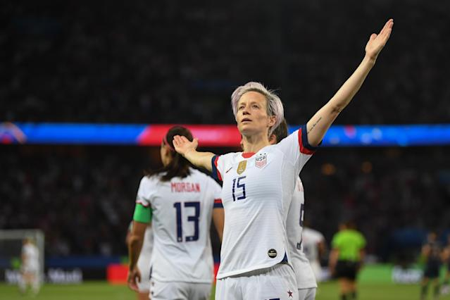 Megan Rapinoe is in the United States' starting lineup for the 2019 Women's World Cup final. (Getty)