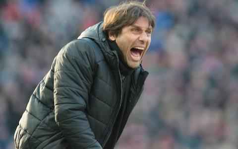 Antonio Conte screams on the sidelines - Credit: John Peters/Getty Images