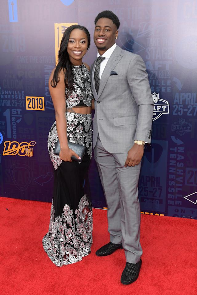 """Football player Antoinette """"Toni"""" Harris attends the 2019 NFL Draft on April 25, 2019 in Nashville, Tennessee. (Photo by Jason Kempin/Getty Images)"""