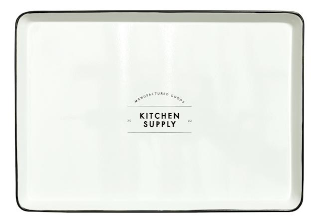 Buy this <span>'Kitchen Supply' metal tray</span>for $17.99
