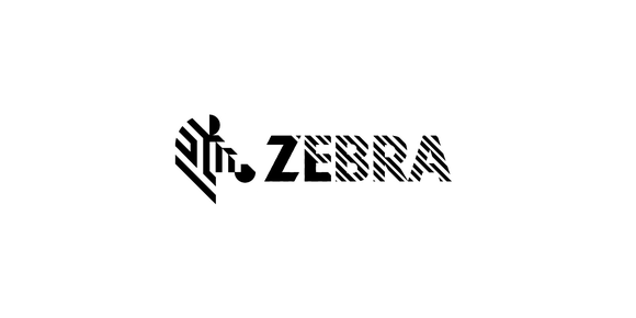 Zebra's corporate logo in the expected black and white.