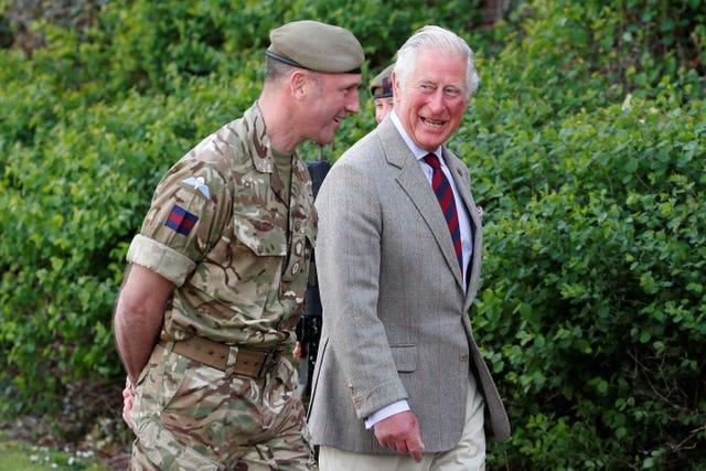 The Prince of Wales visits Combermere Barracks