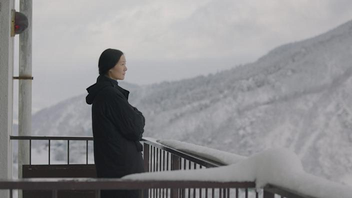 """A Chinese documentary filmmaker visits a snowy locale in the tranquil drama """"The Calming."""""""