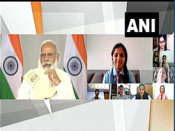 PM Modi holds surprise interactive session with class 12th students after cancellation of exams (photo/ANI)