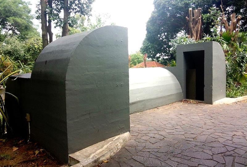 The island's last air raid shelter. Photo: Amara Sanctuary Resort Sentosa