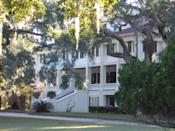 "<p>""I love the <a href=""https://greyfieldinn.com/"" rel=""nofollow noopener"" target=""_blank"" data-ylk=""slk:Greyfield Inn on Cumberland Island"" class=""link rapid-noclick-resp"">Greyfield Inn on Cumberland Island</a>—a Carnegie home-turned-inn built in 1900—for its dark, paneled living room, honor-system bar, and impeccable Southern style. The orange mohair sofa and Oushak rug knocked my socks off."" <em>—Matthew Carter</em></p>"
