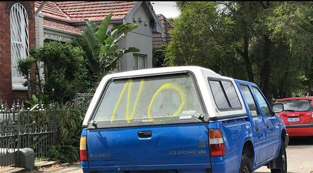 A car is tagged. Source: Facebook