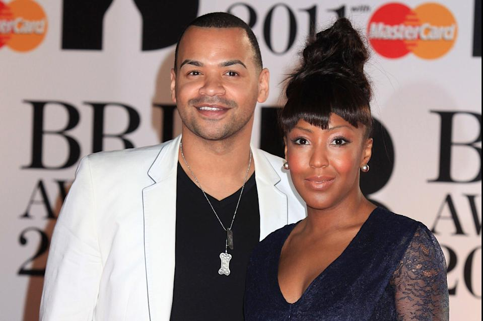 <p>Michael Underwood and his wife Angellica Bell </p> (PA)