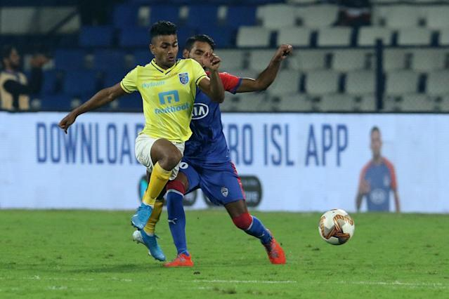 In a game that was marred by inept refereeing, Bengaluru's clinical finishing would be the difference against a fighting Kerala Blasters side..