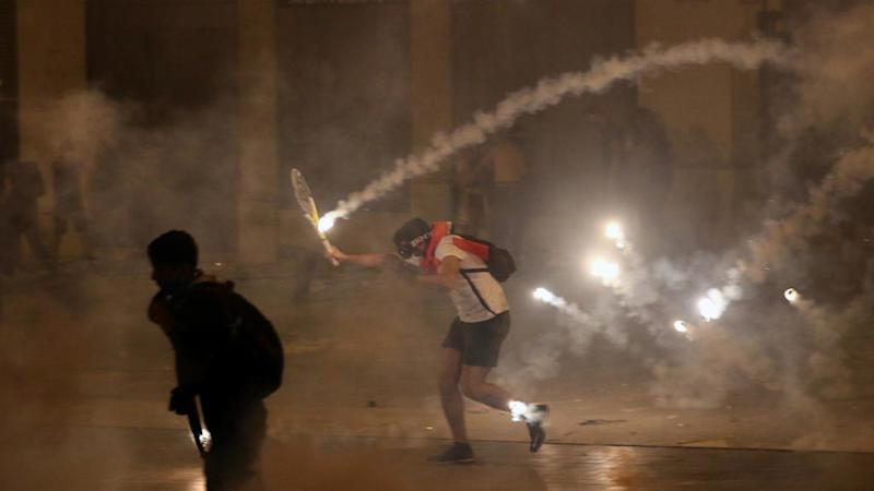 Beirut protestors call for fall of government on second day of demonstrations