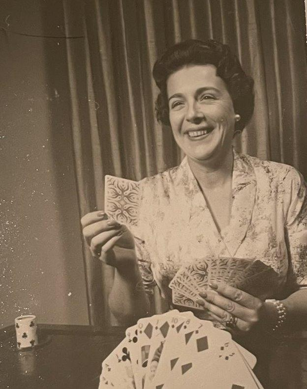 Ann Russell Miller playing cards