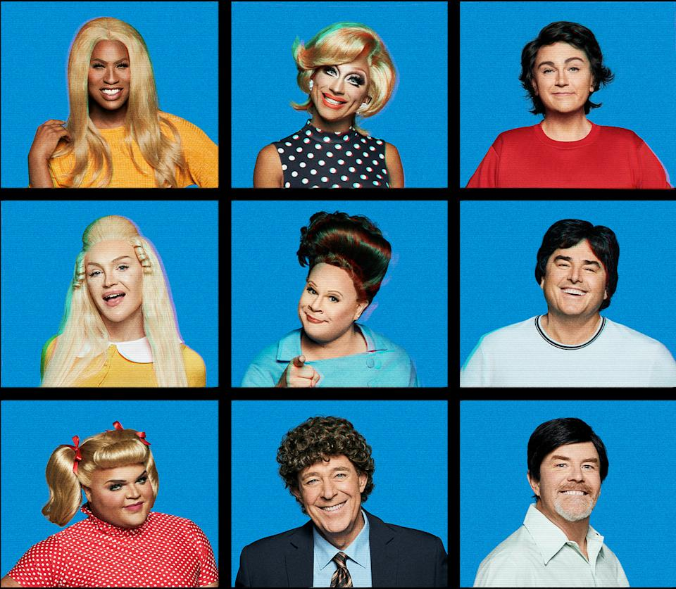 The cast of 'Dragging the Classics: The Brady Bunch.' (Photo: Paramount+)
