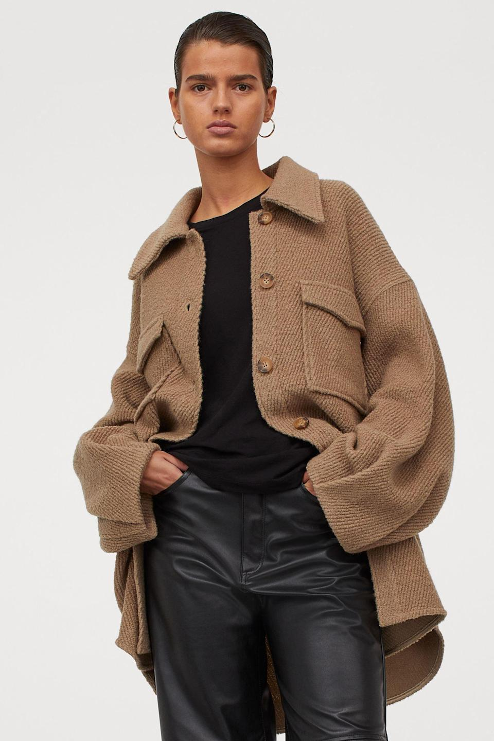 <p>This <span>H&amp;M Wool-blend Shirt Jacket</span> ($70, originally $99) will make a cool and cozy addition to your spring closet.</p>