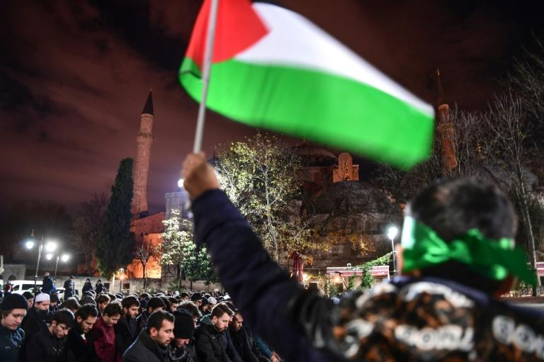 Thousands protested on December 9 against Trump's decision to recognise Jerusalem as Israel's capital