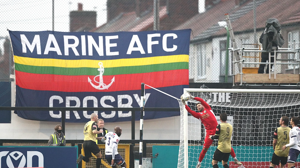 Marine are based in Crosby and will welcome Jose Mourinho's Premier League high-flyers to the Marine Travel Arena on Sunday