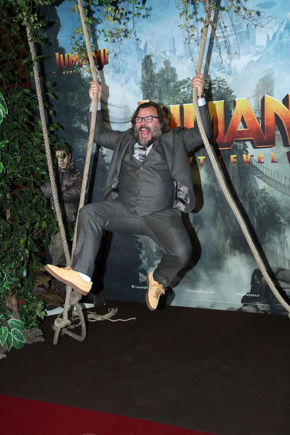 PARIS, FRANCE - DECEMBER 03: Actor of the movie Jack Black attends the photocall of the