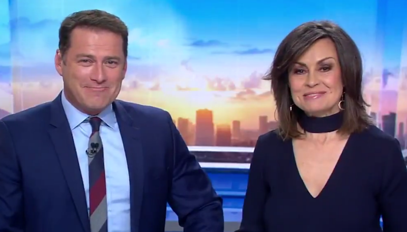 Lisa Wilkinson and Karl Stefanovic on the Today show desk