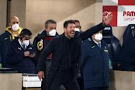 Diego Simeone is looking to win his second league title as Atletico Madrid coach