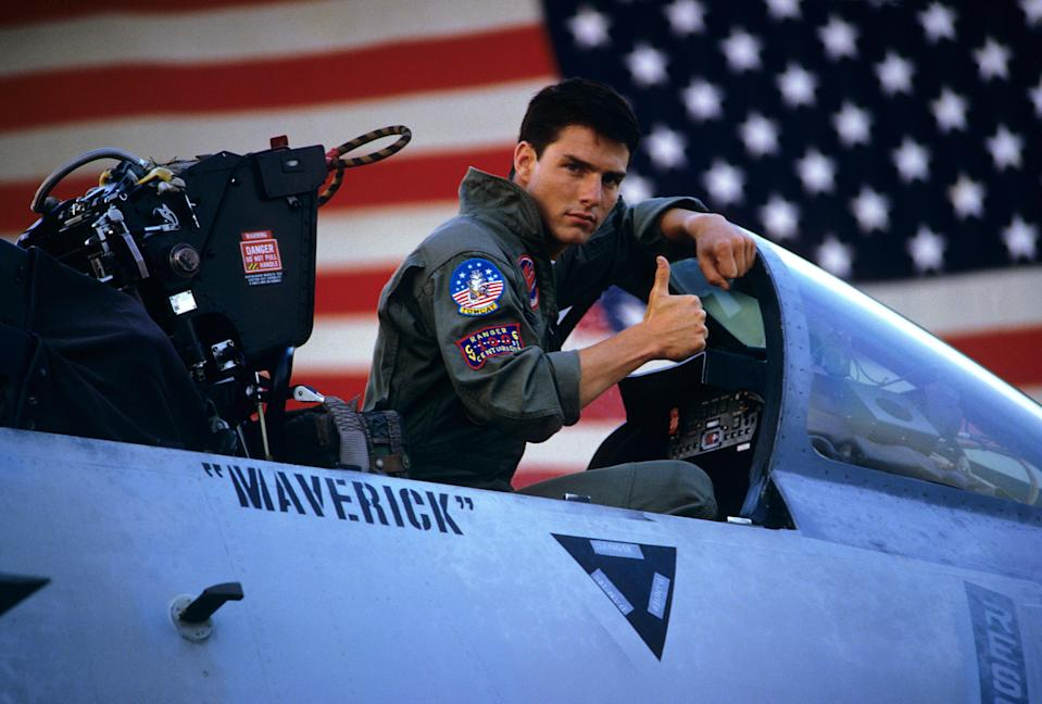 """<p>Tom Cruise has basically been one of the biggest movie stars in the world since the '80s—and <em>Top Gun</em> is the project that marked his true arrival. It's got a romance, a bad bar rendition of a classic song, fast jets, and a <em>very</em> memorable volleyball scene. What more could you ask for?</p> <p><em>Available to rent on</em> <a href=""""https://www.amazon.com/Top-Gun-Tom-Cruise/dp/B001K3K5MO"""" rel=""""nofollow noopener"""" target=""""_blank"""" data-ylk=""""slk:Amazon Prime Video"""" class=""""link rapid-noclick-resp""""><em>Amazon Prime Video</em></a><em>.</em></p>"""