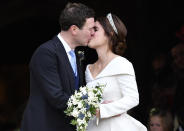 <p>When the happy couple shared their first kiss as husband and wife and our hearts melted. </p>