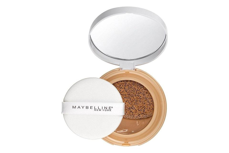 """Back when we were at the office, I got into the habit of doing my makeup in a car every morning, so <a href=""""https://www.glamour.com/story/how-to-use-cushion-compact-foundation?mbid=synd_yahoo_rss"""" rel=""""nofollow noopener"""" target=""""_blank"""" data-ylk=""""slk:cushion compacts"""" class=""""link rapid-noclick-resp"""">cushion compacts</a> became a game-changer for me. They're super easy to toss into my bag and use on the go. I would skip the cushion applicator that comes with it (it's better for touch-ups) and use my Beautyblender to put it on instead. It's light and airy but heavy enough to cover up the redness on my cheeks, and I'm definitely keeping this one around for when things get back to normal. <em>—Lindsay Schallon, senior beauty editor</em> $13, Amazon. <a href=""""https://www.amazon.com/dp/B01LXQKLJR/"""" rel=""""nofollow noopener"""" target=""""_blank"""" data-ylk=""""slk:Get it now!"""" class=""""link rapid-noclick-resp"""">Get it now!</a>"""
