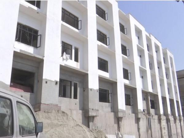 An underconstruction building at Rajouri's Govt Medical College. Photo/ANI