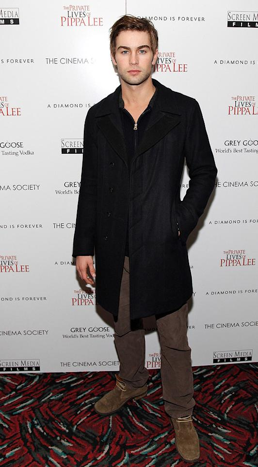 "<a href=""http://movies.yahoo.com/movie/contributor/1809677579"">Chace Crawford</a> at the New York City Cinema Society screening of <a href=""http://movies.yahoo.com/movie/1810025242/info"">The Private Lives of Pippa Lee</a> - 11/15/2009"