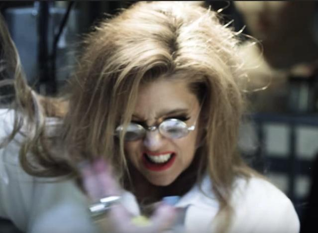 "Lisa Marie Presley in Marilyn Manson's new video ""Tattooed in Reverse."" (Photo: MarilynMansonVEVO)"