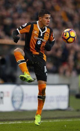 Hull City's Omar Elabdellaoui in action