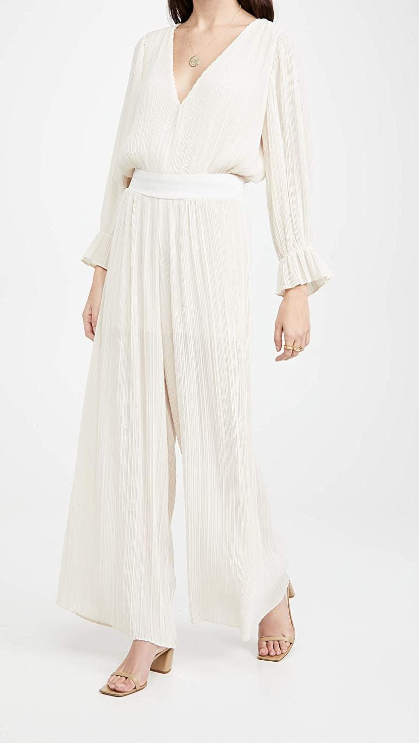 <p>These lightweight <span>Misa Niko Pants</span> ($338) are great for hot days.</p>