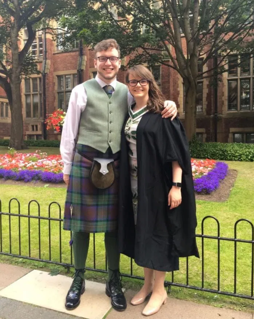 The couple wed in August 2018 but have now split after both coming out as gay. Photo: Facebook