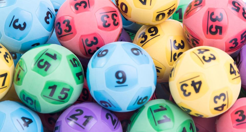 Colourful lottery balls.