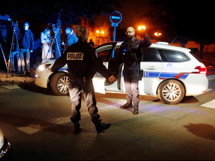 Police were called to scene in commune of Conflans-Sainte-Honorine (REUTERS)