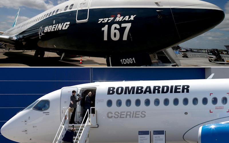 Bombardier and Boeing jets - REUTERS