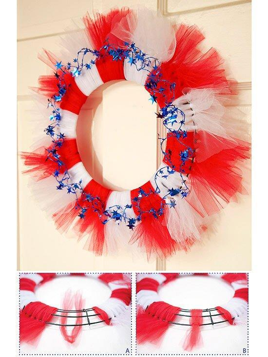 Stately Striped Wreath