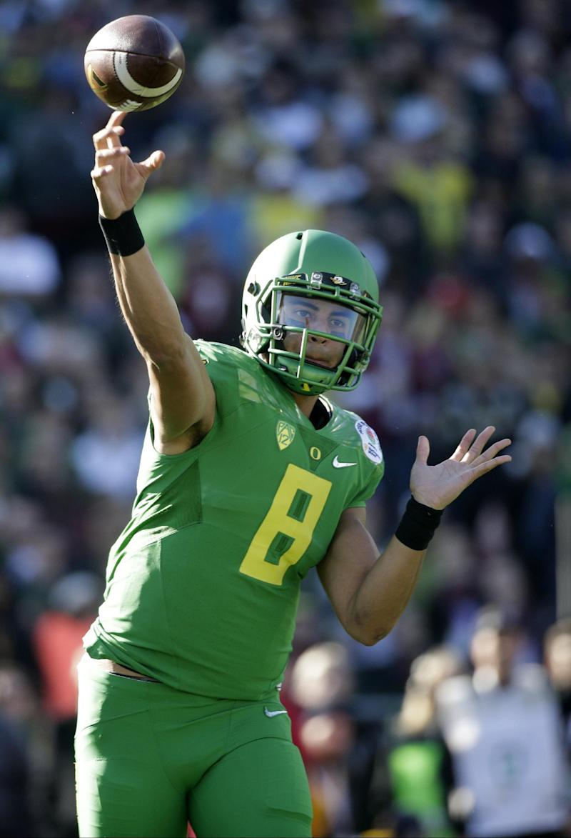 Beginning of the end? Title game may be Mariota's finale