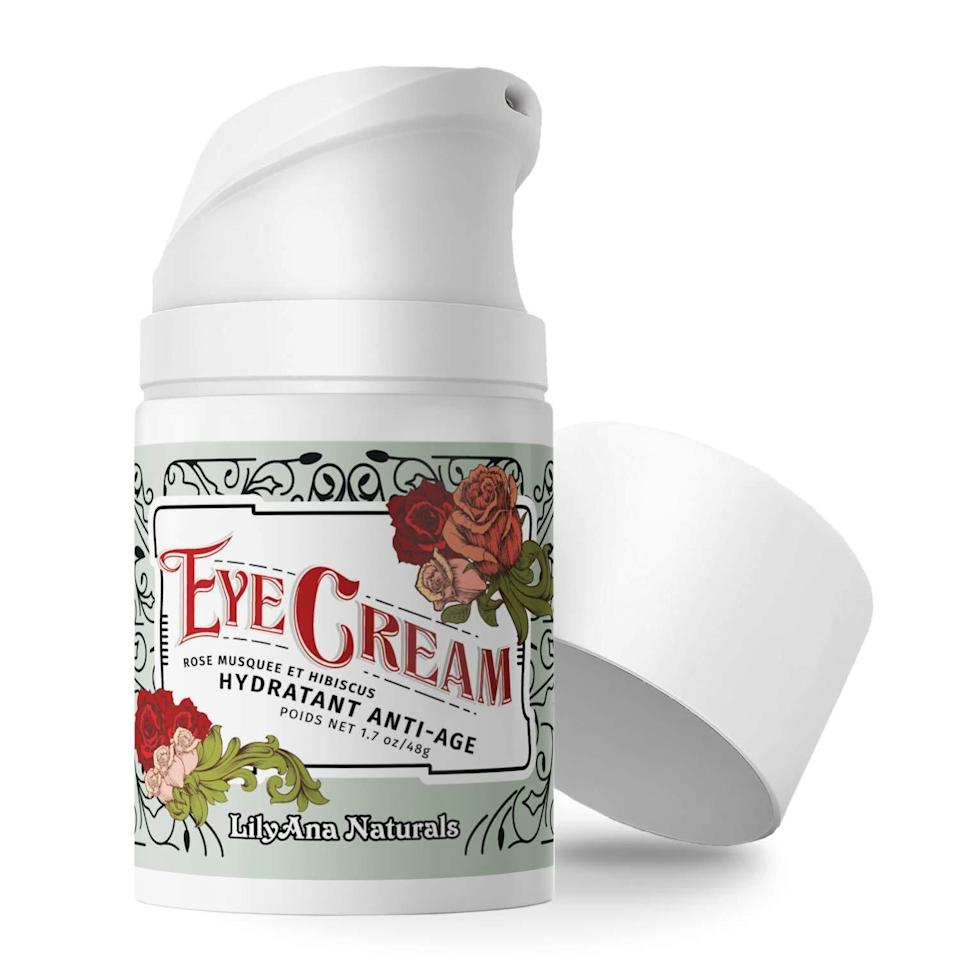"""If you're looking to minimize skin care annoyances (hello, dark circles and puffiness), this eye cream will help brighten, firm and rejuvenate the delicate skin under your eyes.<br /><br /><strong>Promising review:</strong>""""<strong>I would give this product 100 stars.</strong>I see a dramatic difference in my skin. This is<strong>by far the best skincare product I have ever used</strong>. I actually use it for my whole face. It makes my skin feel clean and give it a matte appearance. It even helps my face stay clear. I love the smell and I love the way it feels when applied. This is a truly amazing product."""" —<a href=""""https://amzn.to/2QgKXGx"""" target=""""_blank"""" rel=""""nofollow noopener noreferrer"""" data-skimlinks-tracking=""""5909265"""" data-vars-affiliate=""""Amazon"""" data-vars-href=""""https://www.amazon.com/gp/customer-reviews/RQYQO5R3EG0Y9?tag=bfmelanie-20&ascsubtag=5909265%2C23%2C36%2Cmobile_web%2C0%2C0%2C16567489"""" data-vars-keywords=""""cleaning"""" data-vars-link-id=""""16567489"""" data-vars-price="""""""" data-vars-product-id=""""15956502"""" data-vars-retailers=""""Amazon"""">William B Michel</a><br /><br /><strong>Get it from Amazon for<a href=""""https://amzn.to/32EFfk7"""" target=""""_blank"""" rel=""""nofollow noopener noreferrer"""" data-skimlinks-tracking=""""5909265"""" data-vars-affiliate=""""Amazon"""" data-vars-asin=""""B00LV6VDG2"""" data-vars-href=""""https://www.amazon.com/dp/B00LV6VDG2?tag=bfmelanie-20&ascsubtag=5909265%2C23%2C36%2Cmobile_web%2C0%2C0%2C16567475"""" data-vars-keywords=""""cleaning"""" data-vars-link-id=""""16567475"""" data-vars-price="""""""" data-vars-product-id=""""16310253"""" data-vars-product-img=""""https://m.media-amazon.com/images/I/41DvR2CerfL._SL500_.jpg"""" data-vars-product-title=""""LilyAna Naturals Eye Cream - Eye Cream for Dark Circles and Puffiness, Under Eye Cream, Anti Aging Eye Cream Reduce Fine Lines and Wrinkles, Rosehip and Hibiscus Botanicals - 1.7oz"""" data-vars-retailers=""""Amazon"""">$29.99</a>.</strong>"""