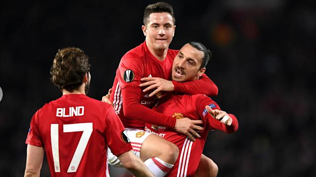 Manchester United will take a comfortable advantage to Saint-Etienne next week after Zlatan Ibrahimovic eased them to a 3-0 win on Thursday.