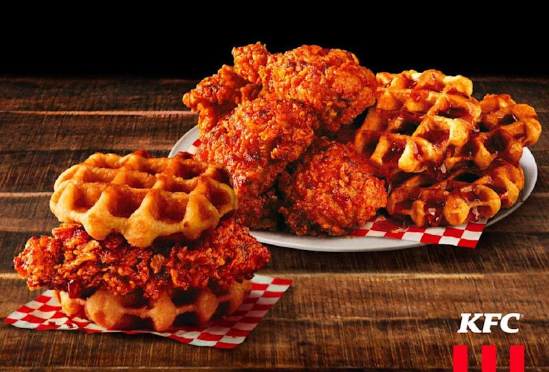 We tried KFC's new Nashville Hot Chicken and Waffles, and here's our honest review