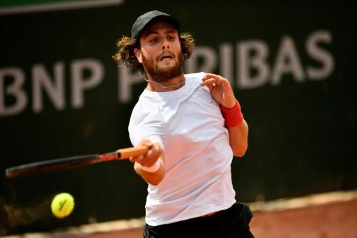 Road trip: Argentina's Marco Trungelliti on his way to victory over Australia's Bernard Tomic