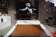 Merchandise in Gross Domestic Product, a homeware store that is being launched in South London by the graffiti artist Banksy.
