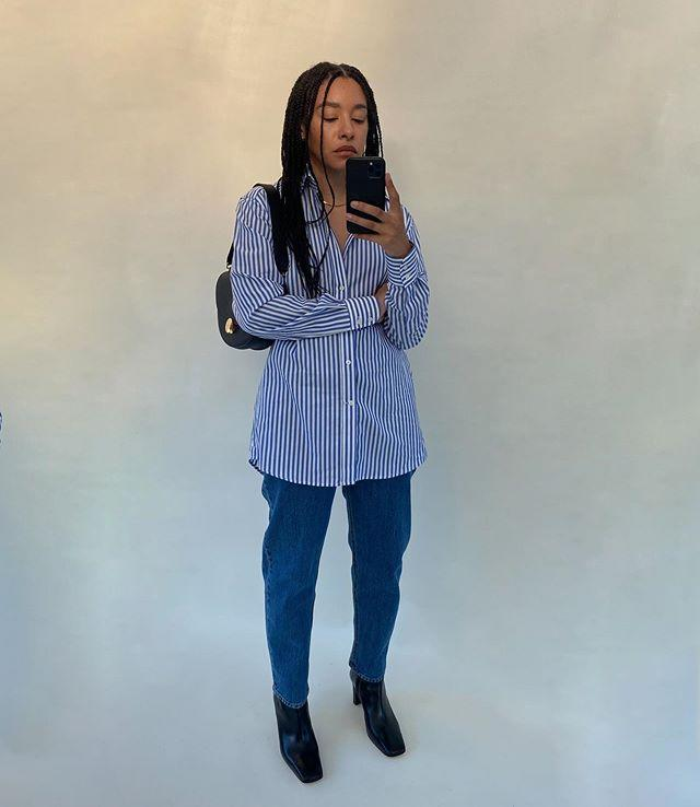 "<p>Tanice Elizabeth shows us how modern workwear is done with a crisp, striped shirt and straight leg jeans. </p><p><a class=""link rapid-noclick-resp"" href=""https://www.withnothingunderneath.com/collections/all/products/blue-stripe-shirt"" rel=""nofollow noopener"" target=""_blank"" data-ylk=""slk:SHOP SHIRT NOW"">SHOP SHIRT NOW</a></p><p><a class=""link rapid-noclick-resp"" href=""https://go.redirectingat.com?id=127X1599956&url=https%3A%2F%2Fwww.net-a-porter.com%2Fen-gb%2Fshop%2Fproduct%2Fstaud%2Feva-leather-ankle-boots%2F1275607&sref=https%3A%2F%2Fwww.elle.com%2Fuk%2Ffashion%2Fwhat-to-wear%2Fg34367820%2Fautumn-outfits%2F"" rel=""nofollow noopener"" target=""_blank"" data-ylk=""slk:SHOP BOOTS NOW"">SHOP BOOTS NOW</a></p><p><a class=""link rapid-noclick-resp"" href=""https://go.redirectingat.com?id=127X1599956&url=https%3A%2F%2Fwww.levi.com%2FGB%2Fen_GB%2Fpromo%2Flevis-501-crop-jeans%2Fp%2F362000142&sref=https%3A%2F%2Fwww.elle.com%2Fuk%2Ffashion%2Fwhat-to-wear%2Fg34367820%2Fautumn-outfits%2F"" rel=""nofollow noopener"" target=""_blank"" data-ylk=""slk:SHOP JEANS NOW"">SHOP JEANS NOW</a></p><p><a href=""https://www.instagram.com/p/CGSFwg1BzrX/"" rel=""nofollow noopener"" target=""_blank"" data-ylk=""slk:See the original post on Instagram"" class=""link rapid-noclick-resp"">See the original post on Instagram</a></p>"