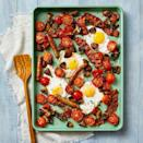 "<p>A hearty breakfast that easily feeds a family of four, all on one sheet pan? Yes, please.</p><p><em><a href=""https://www.goodhousekeeping.com/food-recipes/a34464150/sheet-pan-breakfast-bake-recipe/"" rel=""nofollow noopener"" target=""_blank"" data-ylk=""slk:Get the recipe for Sheet Pan Sausage and Egg Breakfast Bake »"" class=""link rapid-noclick-resp"">Get the recipe for Sheet Pan Sausage and Egg Breakfast Bake »</a></em></p>"