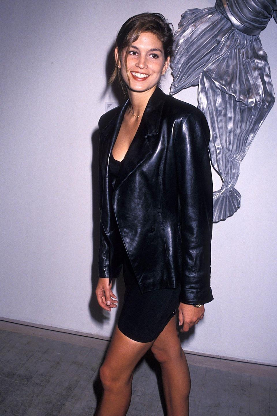 "<p>Arriving to the ""Art Pro Choice"" Cocktail Party and Auction to benefit the National Abortion League in N.Y.C. in 1990.</p>"