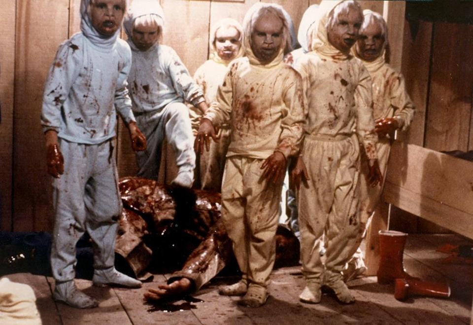 <p>David Cronenberg's 1979 sci-fi horror movie 'The Brood' features a litter of mutant children with a zest for murder and mayhem. Yikes! (Photo: Everett)</p>