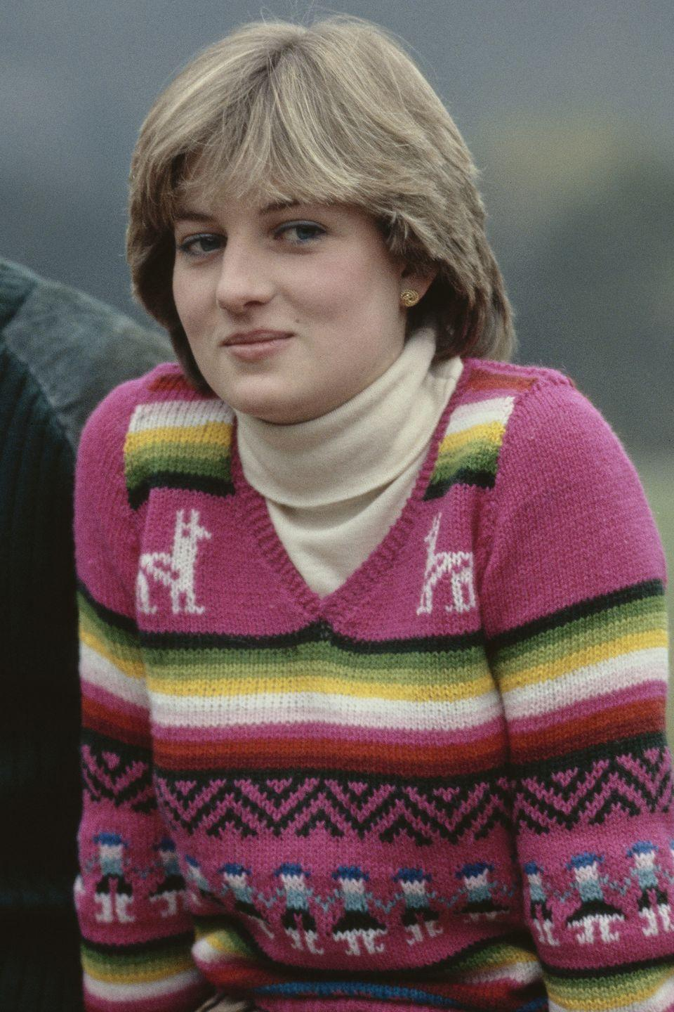 <p>At the Balmoral Estate prior to her wedding with bangs. </p>