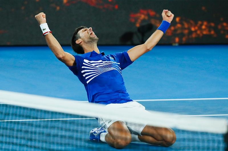 Serbia's Novak Djokovic has won his 15th Grand Slam title