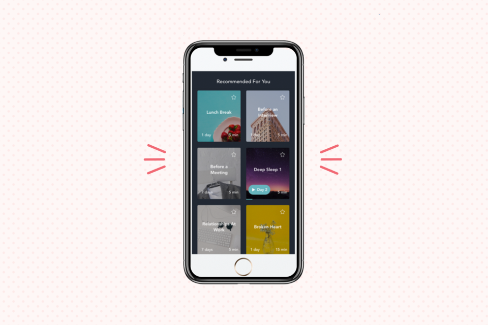 """<p>If you feel like you don't have any time to actually practice meditation, Simple Habit's developers created their service with you in mind. The app is <a href=""""https://www.goodhousekeeping.com/health/wellness/a26898773/how-cleaning-helps-anxiety/"""" rel=""""nofollow noopener"""" target=""""_blank"""" data-ylk=""""slk:focused on daily stress relief"""" class=""""link rapid-noclick-resp"""">focused on daily stress relief</a>, with five-minute sessions at the top of the list as well as sessions that are developed for traveling, like a morning commute program. You'll find motivational guides and bedtime stories as well.</p><p><strong>Cost:</strong> $11.99 a month or $96 a year. </p><p><strong>User Review:</strong> """"It's made meditation simpler for me. The instructors' voices are soothing and visually I like the organization and simplicity of the app.""""</p><p><strong>Where to Download</strong>: <a href=""""https://apps.apple.com/us/app/simple-habit-wellness-sleep/id1093360165"""" rel=""""nofollow noopener"""" target=""""_blank"""" data-ylk=""""slk:Apple Store"""" class=""""link rapid-noclick-resp"""">Apple Store</a> and <a href=""""https://play.google.com/store/apps/details?id=com.simplehabit.simplehabitapp&hl=en_US"""" rel=""""nofollow noopener"""" target=""""_blank"""" data-ylk=""""slk:Google Play"""" class=""""link rapid-noclick-resp"""">Google Play</a></p>"""